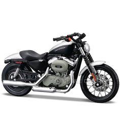 Miniatura Moto Harley-Davidson 2008 XL 1200N Sportster 1200 Nightster Maisto 1:18 - Machine Cult   A loja das camisetas de carro e moto