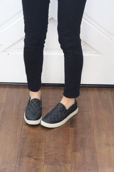 1719011576d04a Black quilted slip-ons Target! Target Quilts
