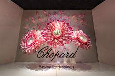 Floral Window Display | Chopard, Bridal at Harrods, 2014 by Millington Associates | Origami & Paper Craft