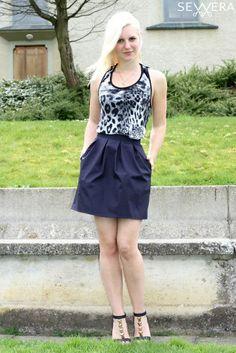 skirt sewing pattern Skirt Sewing, Skirt Patterns Sewing, Straight Stitch, Stitch Design, Wedgwood, Skater Skirt, Skirts, Dresses, Fashion