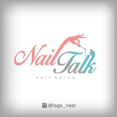 Our design for the nail salon logo (Neil Tok).our logo design … Nail Salon Names, Nail Salon And Spa, Nail Salon Decor, Mobile Beauty Salon, Nail Logo, Natural Nail Designs, Happy Nails, Nail Bar, Nail Shop