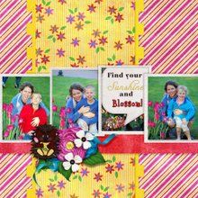 Pop of Life 1 12x12 Layout Templates