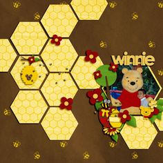 Winnie the Pooh - Disney scrapbooking; layout by COLINS7350