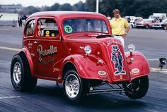 Ken Dondero driving the wheels off! Ford Anglia, Drag Bike, Vintage Race Car, Drag Cars, Car Humor, Monster, Drag Racing, Hot Cars, Custom Cars