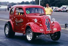 Vintage Drag Racing - Panella Bros. Ken Dondero driving the wheels off!!