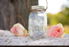Gorgeous hanging Mason glass jar