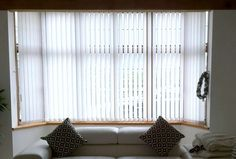 bow window treatments drapes windows vertical blinds bay and