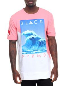 Find Slanted Panel Wave S/S Tee Men's Shirts from Black Pyramid & more at DrJays. on Drjays.com