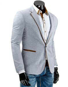 Pánské stylové sako - Telmond, šedé Suit Jacket, Suits, Jackets, Fashion, Down Jackets, Moda, Fashion Styles, Suit, Jacket