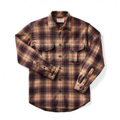 a9c1678bfe1 Discover the Filson Vintage Flannel Work Shirt. Our warm cotton button-down  shirt has a soft brushed-twill interior.