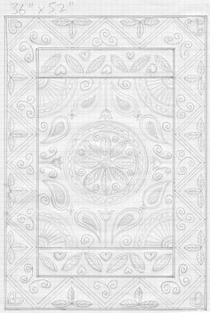 Idea for Welsh style quilt with paisley and fan motifs Quilting Stencils, Quilting Projects, Quilting Ideas, Machine Quilting Patterns, Quilt Block Patterns, Whole Cloth Quilts, Doodle Designs, Custom Quilts, Quilt Stitching
