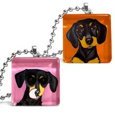 Dachshund Necklace Set Of 2 now featured on Fab.....~~~~~How cute!!!!!!