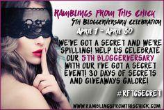 http://ramblingsfromthischick.blogspot.com/p/ive-got-secret-event.html