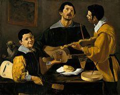 THREE MUSICIANS. suggested date : 1616 / 1617. oil on canvas. 88 × 111 cm. Provenance : Ireland, La Touche Collection; London, R.Langton Douglas; since 1906, Berlin, Gemaldegalerie. Inv. No. 413 F.