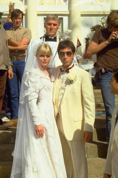 Michelle Pfeiffer and Al Pacino in Scarface directed by Brian De Palma, 1983