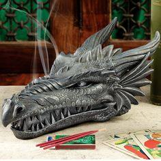 Found it at Wayfair - Smoking Dragon Incense Bust