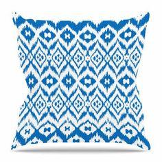 Kess InHouse Pom Graphic Design Tribal Simplicity Teal Bed Runner