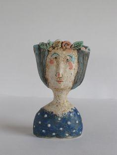 Posy Pots | Sally Ceramics Clay Wall Art, Clay Art, Ceramic Painting, Ceramic Art, How To Make Ceramic, Sculpture Head, Coil Pots, Pottery Videos, Face Planters