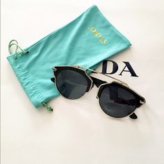 Sunglasses Dior So Real style alike I bought these sunglasses at Amazon. Spent $65. Style like Dior So Real. Just tried on, does not fit me. Only have the soft bag no sunglasses hard case. Make me an offer! Accessories Glasses