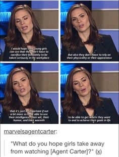 """Hayley Atwell on what she hopes girls take away from """"Agent Carter"""""""