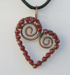 GarnetWrappedHeart great jewelry making tutorial
