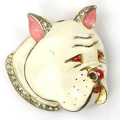 Oh my good god I love this enamel and rhinestone bulldog pin!