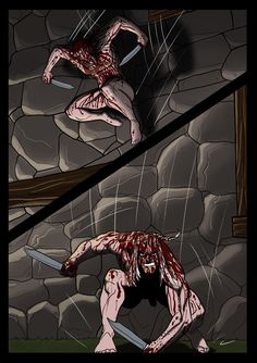 It's a Vampire!!! (page 20) by Gocce & Sejver #vampires #horror #comics #fantasy #action #blood ; published on www.komicbrew.com