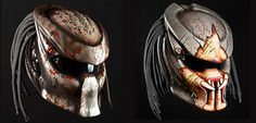 Extremely Cool Predator Motorcycle Helmet by Nitrinos