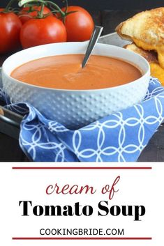 Forget tomato soup from a can. Velvety smooth, homemade cream of tomato soup from scratch is rich, creamy, comforting and bursting with delicious flavor. Tomato Soup From Scratch, Cream Of Tomato Soup, Canned Tomato Soup, Best Soup Recipes, Meal Recipes, Quick And Easy Soup, Sweet Wine, Bowl Of Soup, Slow Cooker Soup