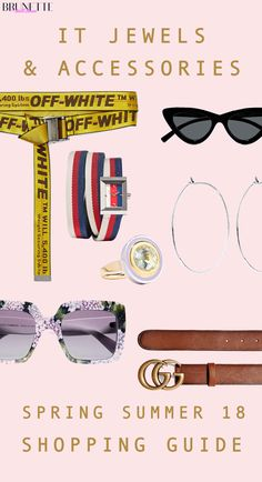 """Fashion Blogger Veronika Lipar of Brunette from Wall Street sharing IT accessories to buy for spring summer 2018 #fashion #blogpost #springsummer2018 #ITpieces #ITaccessories #ITaccessory #belt #belts #gucci #jewellery #earrings #offwhite #sunglasses #fashiontrends"""" width="""