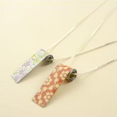 Show details for Long Tin Bead Necklace
