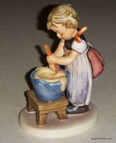 Baking Day Goebel Hummel Figurine #330 TMK6 From Girl With Apron & Mixing Bowl Cooking - Vintage Collectible in EXCELLENT CONDITION!