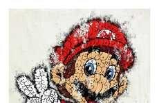 Typographic Video Game Graffiti