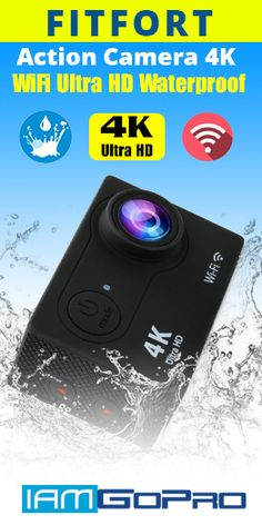 FITFORT Action Camera 4K WiFi Ultra HD Waterproof Sport Camera 2 Inch LCD Screen 12MP 170 Degree Wide Angle 2 Rechargeable 1050mAh Batteries Free Travel Bag Include 19 Accessories Kits -  #BestCheapActioCamera #Fitfort #4KActionCamera #GoPro iamgopro.com