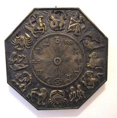 Mid Century Zodiac Medallion Wall Plaque Syroco Atstrology Medaliion Sun Signs