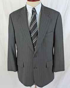 BROOKS BROTHERS Brooksease Blazer Sport Coat Charcoal Striped 39S made in Israel #BrooksBrothers #TwoButton