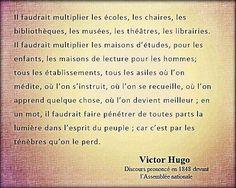 Victor Hugo (Discours prononcé en 1848 devant l'Assemblée Nationale)
