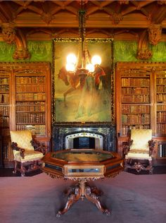 Abbotsford House | I wish I could read all the books in this library!