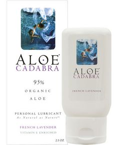 Aloe Cadabra is an all natural personal lubricant for intimate pleasures made with more than 97 percent organic aloe vera. Aloe Cadabra is the smooth and silky organic surprise that eliminates dryness with the power of aloe vera and delights the senses with the luscious scent of French Lavender essential oils. Comes in 2.5 oz. bottle.