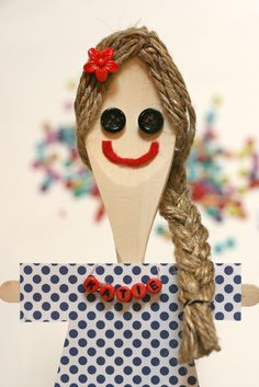 DIY Wooden Spoon Dolls | SoFawned.com