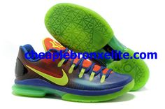 innovative design 4adce 3c01a Elite KD V Low EYBL Blue to Red Gradient Volt 585386 082 Kobe 8 Shoes,