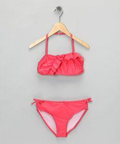 Pink Retro Bikini - Girls by Penelope Mack: Swimwear on #zulily today $12.99