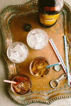 The perfect summer sipper! A Cherry Mind Eraser: Kahlua, vodka, cherry syrup, topped with soda water.