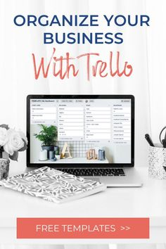 Organize your entire business with these free Trello templates. The 3 boards include the biz dashboard, productivity planner, and system and processes. Great for entrepreneurs, bloggers, coaches, consultants, VAs, service providers, and product creators. If you're an online entrepreneur, you need these Trello boards! Business Organization, Tool Organization, Trello Templates, Online Entrepreneur, Coaches, Productivity, Online Business, Organize, Boards