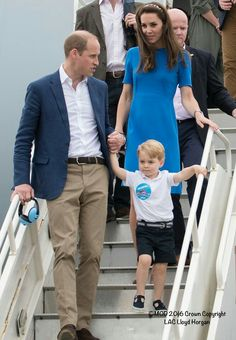July 8, 2016: TRH The Duke and Duchess of Cambridge with their son Prince George attended the air show at RAF Fairford - the largest of its kind in the world.