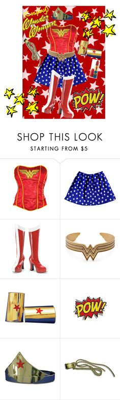 """""""Wonder Woman (Cosplay)"""" by chloeptlle ❤ liked on Polyvore featuring Funtasma, TIARA and MAC Cosmetics"""