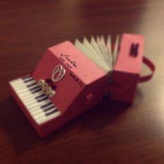 Wen's handmade accordion. #handmade #paperart  #accordion  #DIY #music