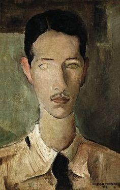 Candido Portinari (Brazilian, 1903-1962): Portrait of Helio Felijo, 1932. This has a quality similar to Modigliani http://pinterest.com/marshro/modigliani/