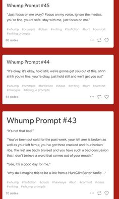 Whump prompts Writing Ideas, Writing Promps, Writing Advice, Writing Inspiration, Writing Boards, Writing Quotes, Writing Skills, Creative Writing, Writing Help