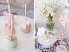 cakepops for this little flowers themed party